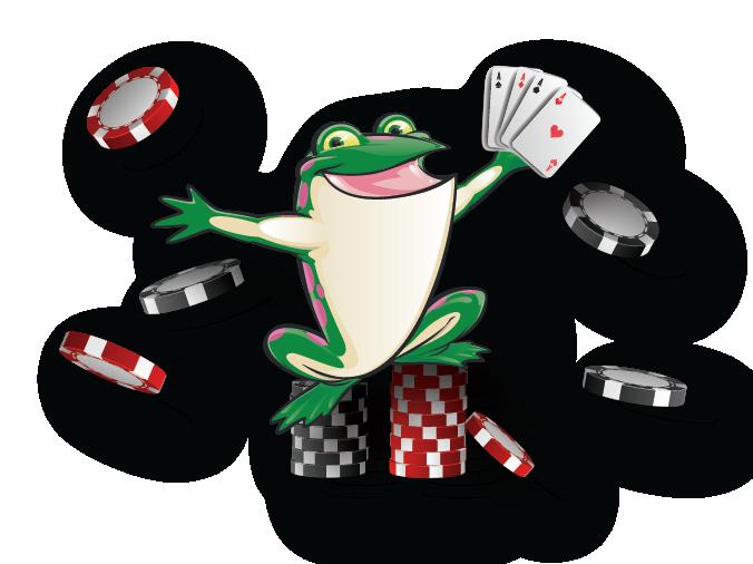 Bags of Fun Poker Frog
